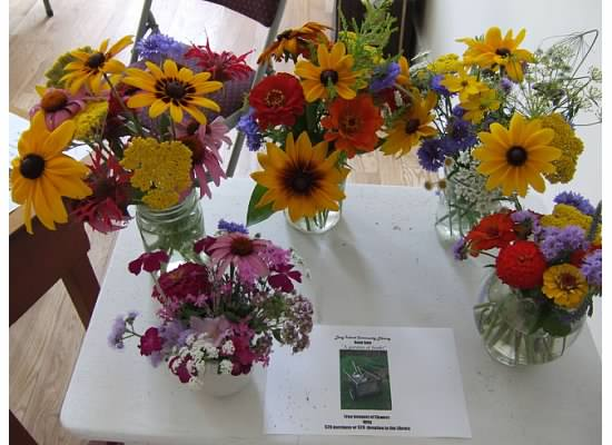 LICL booksale flowers