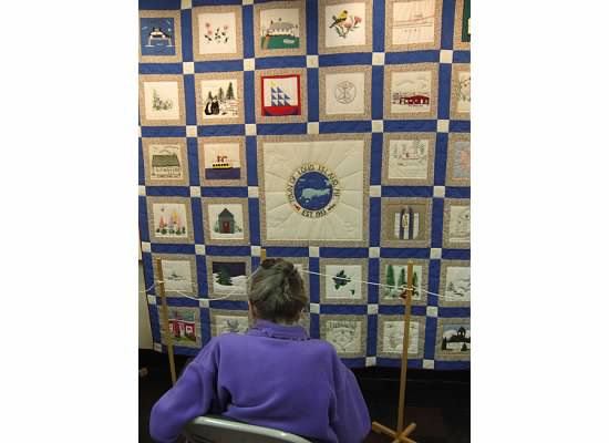 Quilt at the Long Island Historical Society