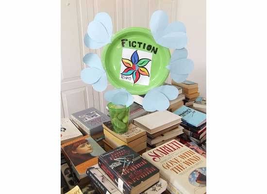 LICL booksale flower sign